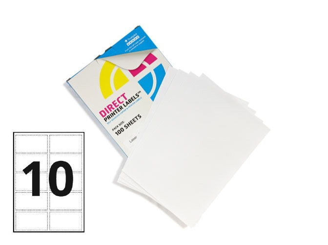 10 Per Sheet A4 Labels - Round Corners