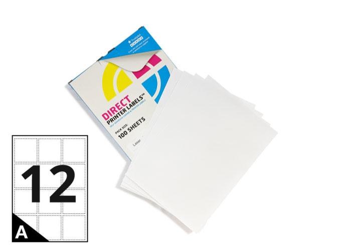 12 Per Sheet A4 Labels - Round Corners
