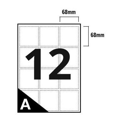 12 Per Sheet A4 Labels - Round Corners  - 2