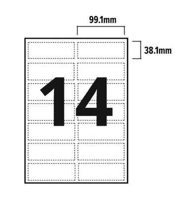 14 Per Sheet A4 Labels - Round Corners  - 3