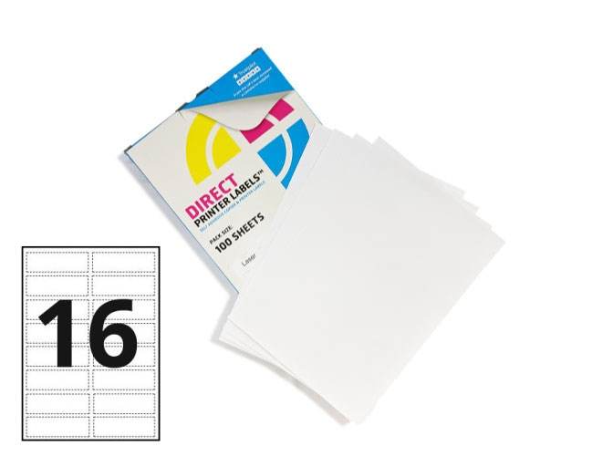 16 Per Sheet A4 Labels - Round Corners