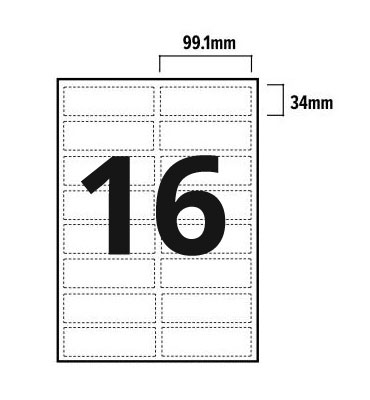 16 Per Sheet A4 Labels - Round Corners  - 2