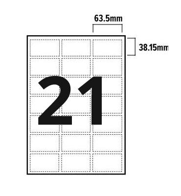21 Per Sheet A4 Labels - Round Corners  - 3