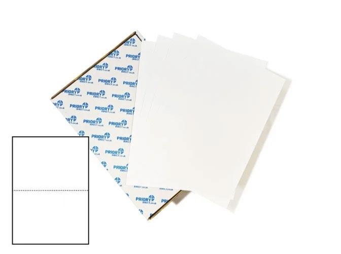 2 Per Sheet A4 Labels - Square Corners