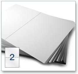 2 Per Sheet A4 Labels - Square Corners  - 4
