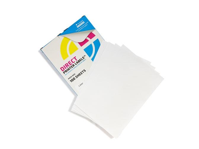 3 Per Sheet A4 Labels - Square Corners - 2