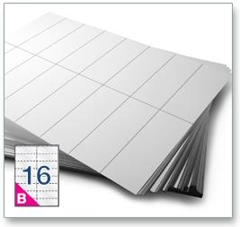 16 Per Sheet A4 Printer Labels - Square Corners - 4