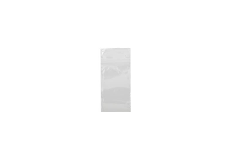 Polythene Grip Seal Bags - Clear - 37x62mm