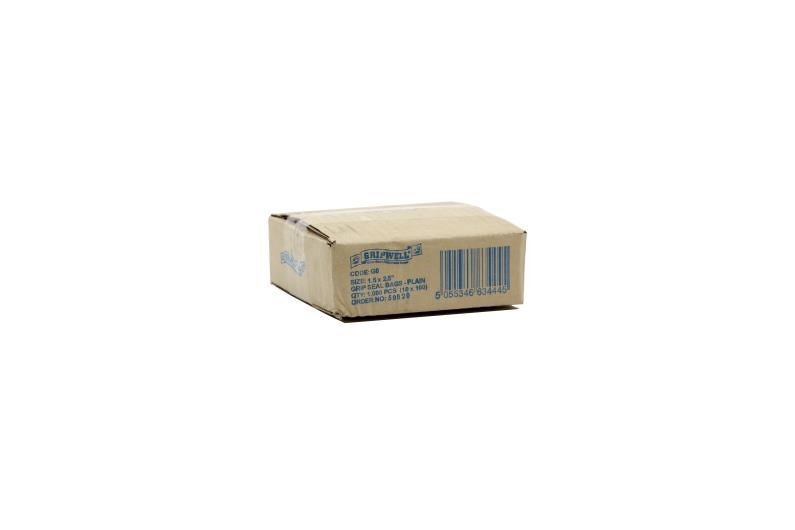 Polythene Grip Seal Bags - Clear - 100x137mm - 2