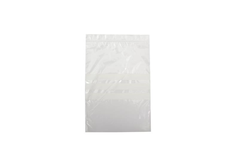 Polythene Grip Seal Bags with Write On Panels - Clear - 75x80mm