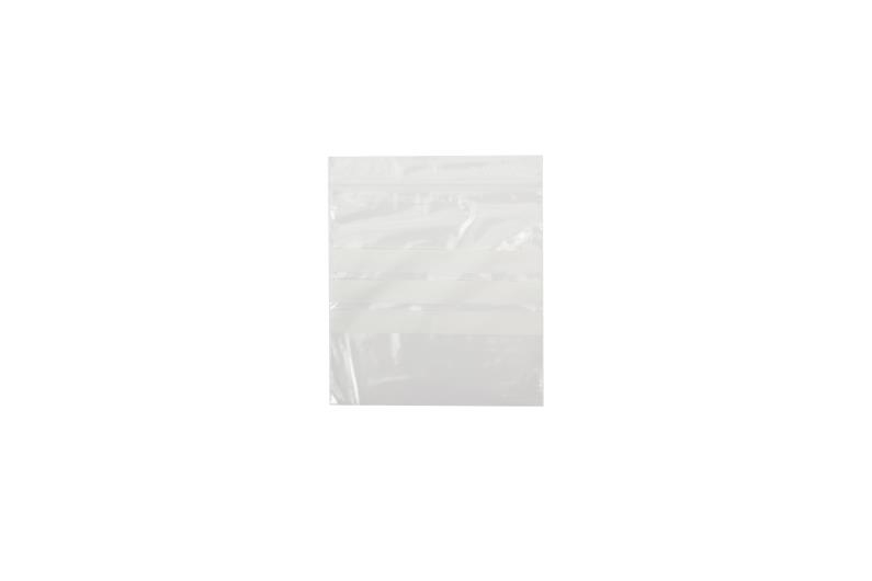 Polythene Grip Seal Bags with Write On Panels - Clear - 112x112mm