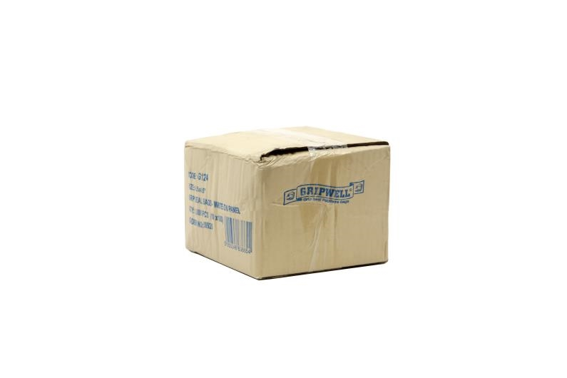 Polythene Grip Seal Bags with Write On Panels - Clear - 75x187mm - 2
