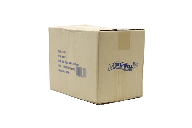 Polythene Grip Seal Bags with Write On Panels - Clear - 200x275mm - 2