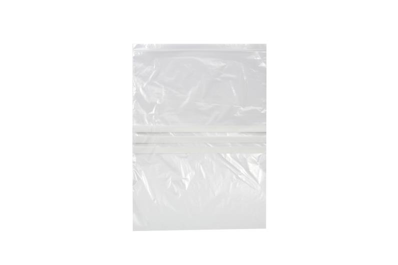 Polythene Grip Seal Bags with Write On Panels - Clear - 375x500mm