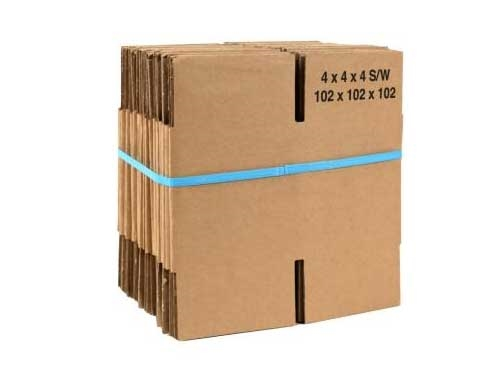 152 x 152 x 152mm Single Wall Cardboard Boxes - 2