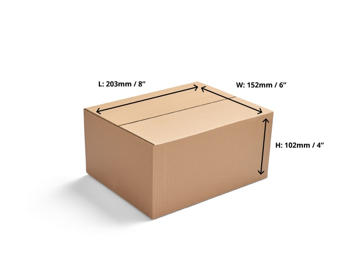 203 x 152 x 102mm Single Wall Cardboard Boxes