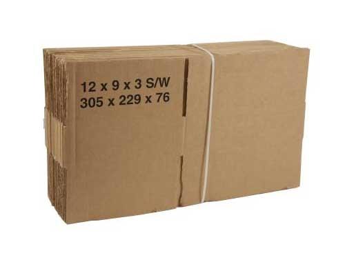 305 x 229 x 76mm Single Wall Boxes