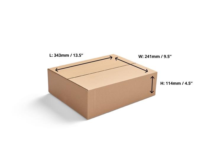 343 x 241 x 114mm Single Wall Cardboard Boxes