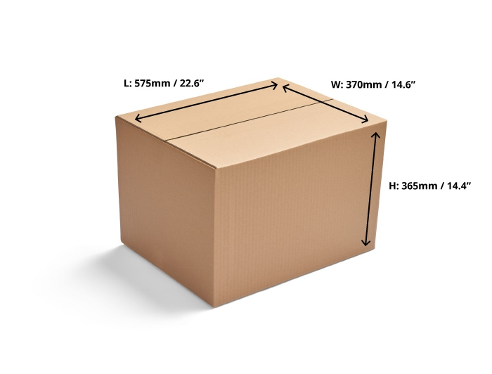 575 x 370 x 365mm Single Wall Cardboard Boxes
