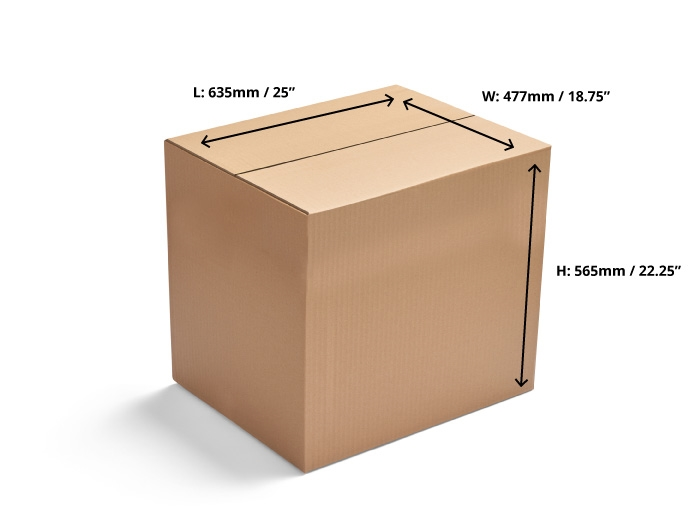 635 x 477 x 565mm Single Wall Cardboard Boxes