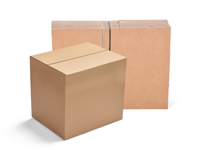 635 x 477 x 565mm Single Wall Cardboard Boxes - 5