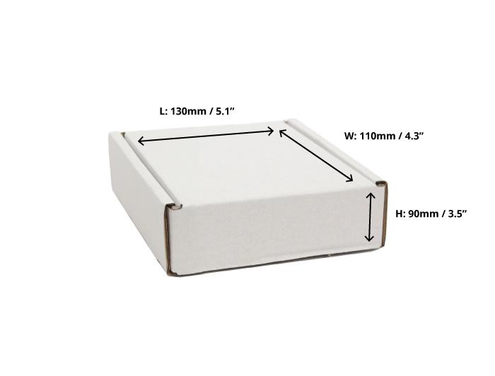 130 x 110 x 90mm White Postal Boxes