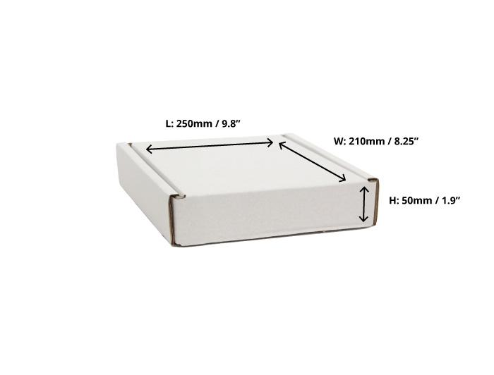 250 x 210 x 50mm White Postal Boxes