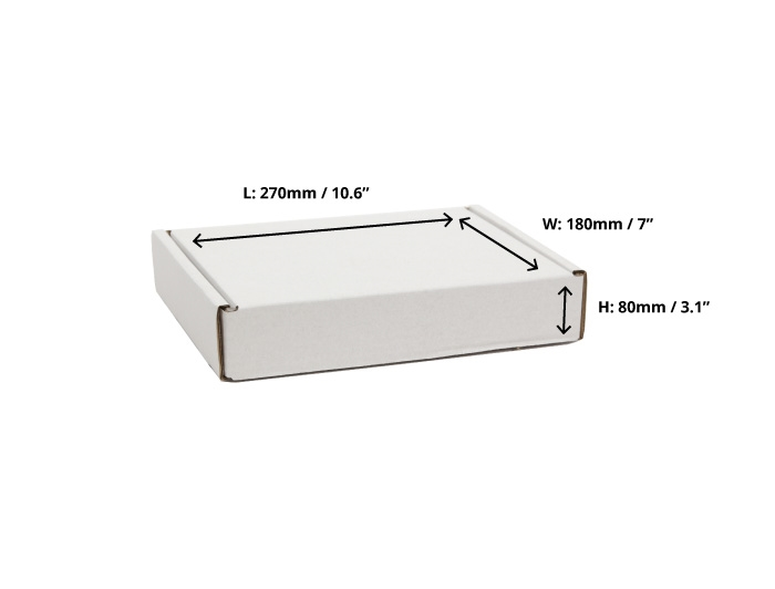270 x 180 x 80mm White Postal Boxes
