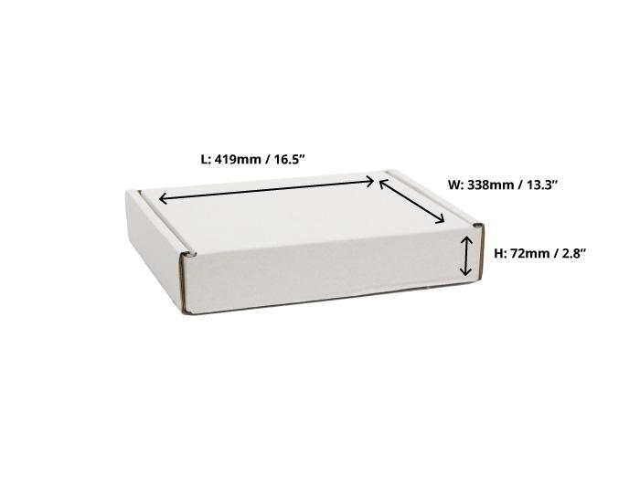 419 x 338 x 72mm White Postal Boxes