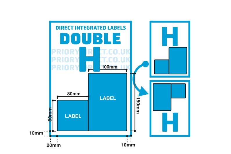 Double Integrated Label - Style H