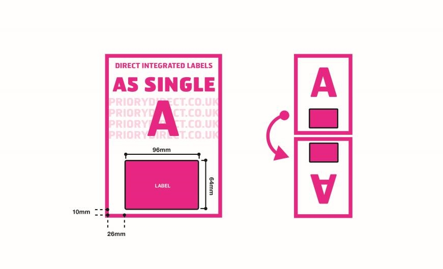A5 Integrated Label - Single Style A