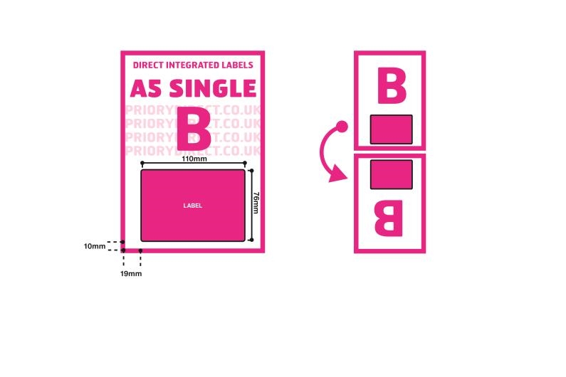 A5 Integrated Label - Single Style B