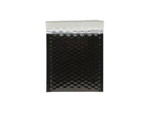 140 x 165mm Black Metallic Bubble Envelopes