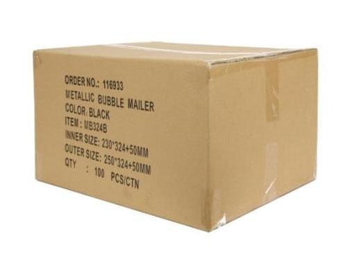 140 x 165mm Black Metallic Bubble Envelopes - 2