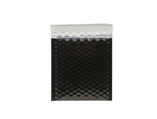 165 x 165mm Black Metallic Bubble Envelopes