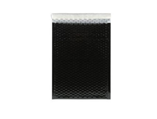 180 x 250mm Black Metallic Bubble Envelopes