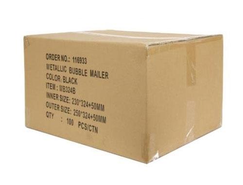 180 x 250mm Black Metallic Bubble Envelopes - 2