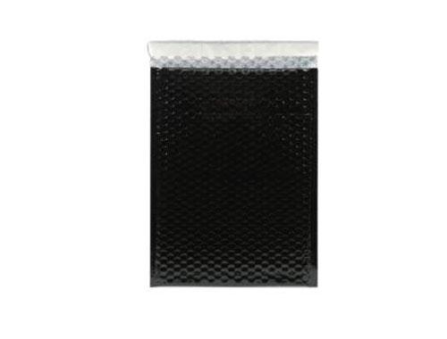 A4 Black Metallic Bubble Envelopes
