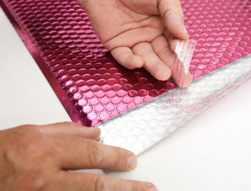 180 x 250mm Metallic Pink Padded Envelopes - 3