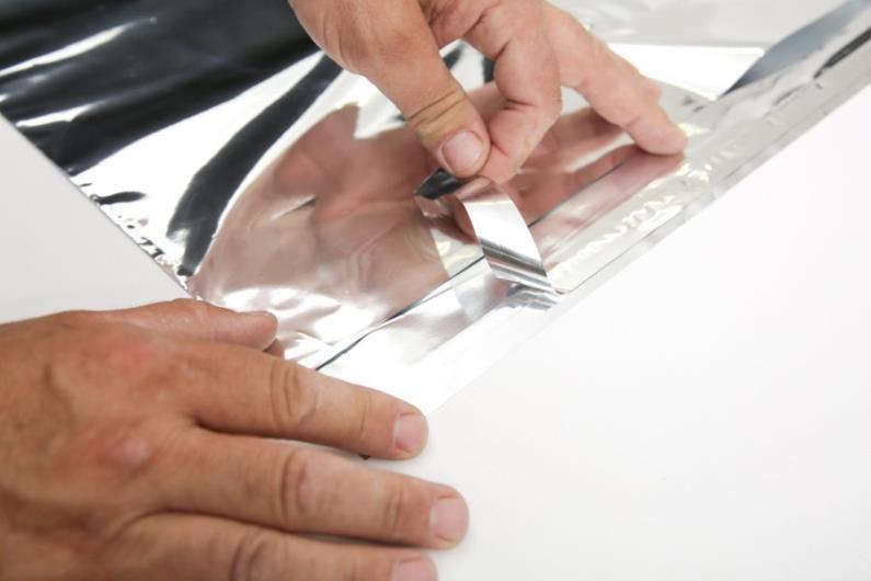 Silver Metallic Foil Mailer - 350 x 400mm - 3