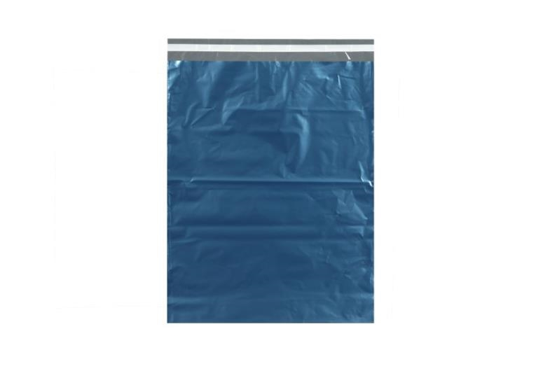 Metallic Blue Poly Mailer - 305 x 406mm