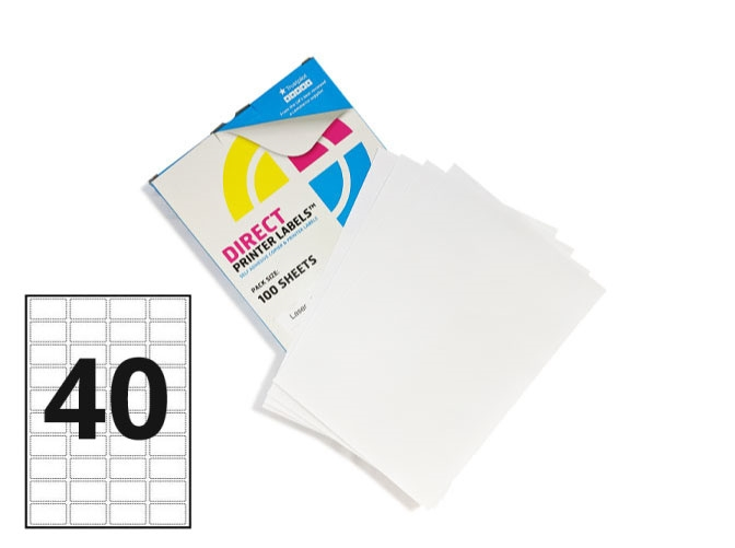 40 Per Sheet A4 Labels - Round Corners