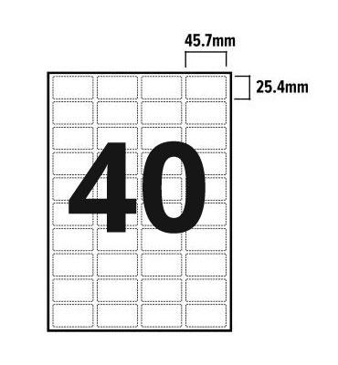 40 Per Sheet A4 Labels - Round Corners - 2