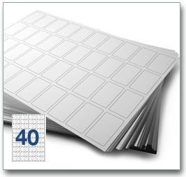 40 Per Sheet A4 Labels - Round Corners - 4
