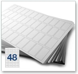 48 Per Sheet A4 Labels - Round Corners - 4