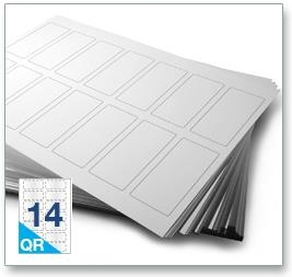14 Per Sheet A4 Labels - Square Corners  - 4