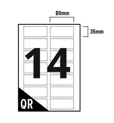 14 Per Sheet A4 Labels - Square Corners  - 2