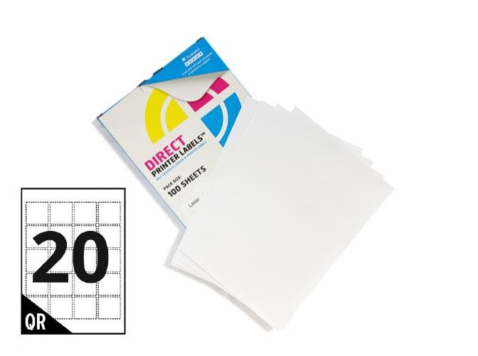 20 Per Sheet A4 Labels - Square Corners