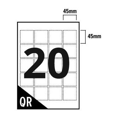 20 Per Sheet A4 Labels - Square Corners  - 3