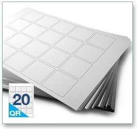 20 Per Sheet A4 Labels - Square Corners  - 4